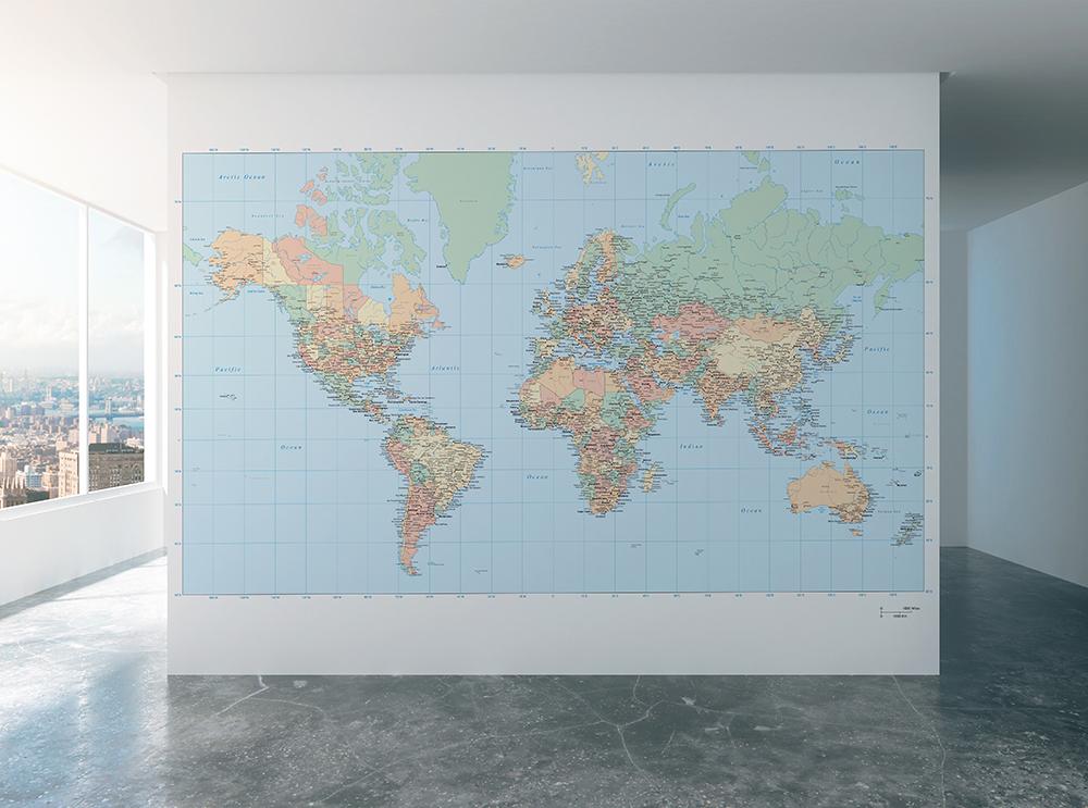 verdenskort tapet Verdenskort tapet   Tapet shop   Illux.dk verdenskort tapet