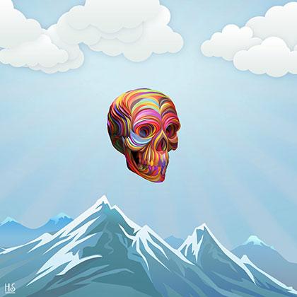 Image of A Skull Passes By af Helt Sort