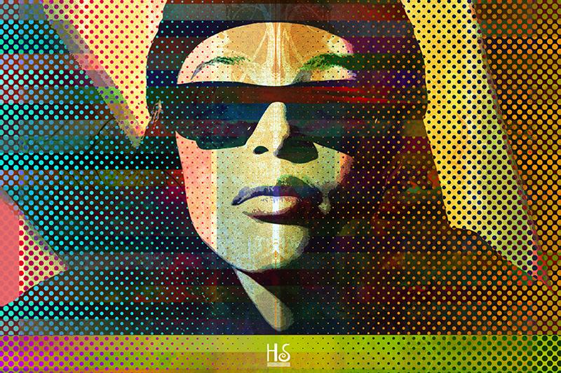 Image of   Aaliyah af Helt Sort