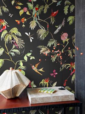 Billede af Birds, Black tapet af Designed for living