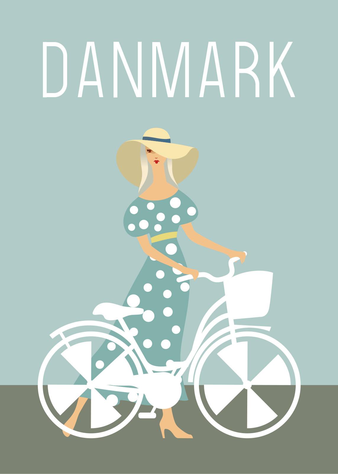 Billede af Damecykel af Rikke Axelsen