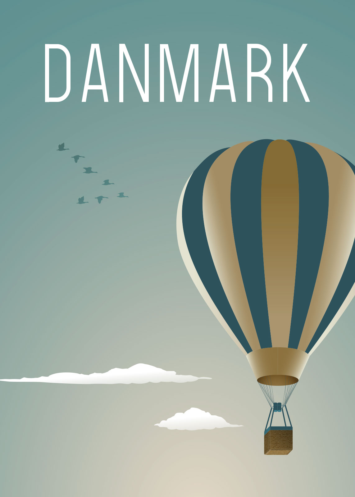 Image of   Blå Luftballon af Rikke Axelsen