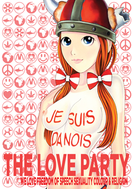 Image of   Danois af The Love Party, Plakat, 60x84 cm