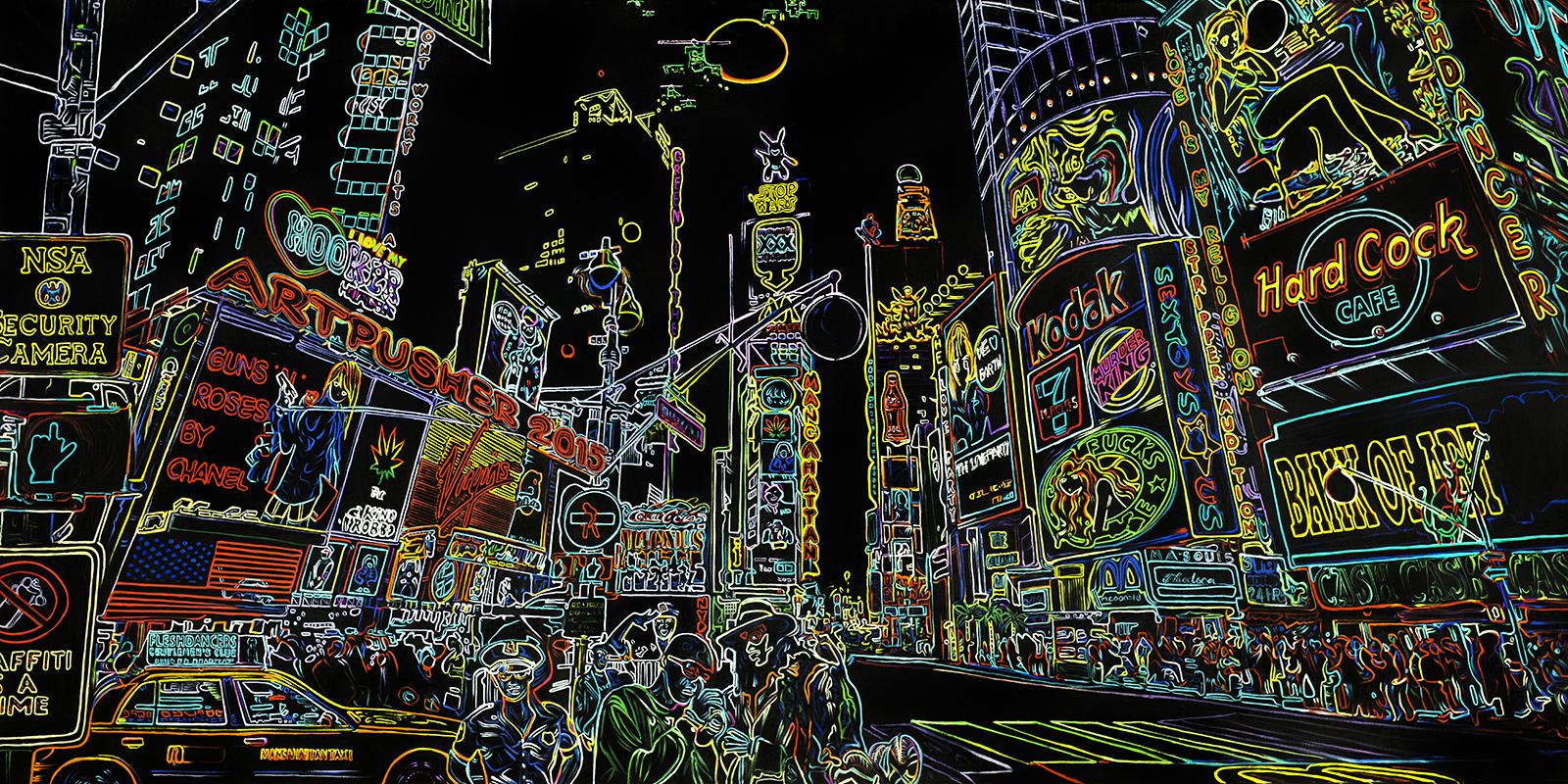 Billede af Fleshdancer neon af Artpusher
