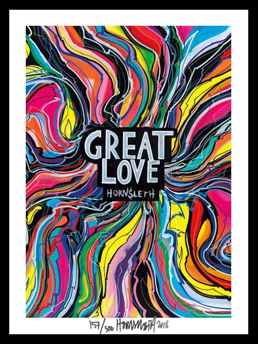 Image of   Great Love - signeret tapet af Hornsleth - signeret og nummereret