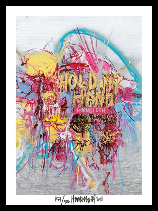Image of   Hold my hand - signeret tapet af Hornsleth - signeret og nummereret