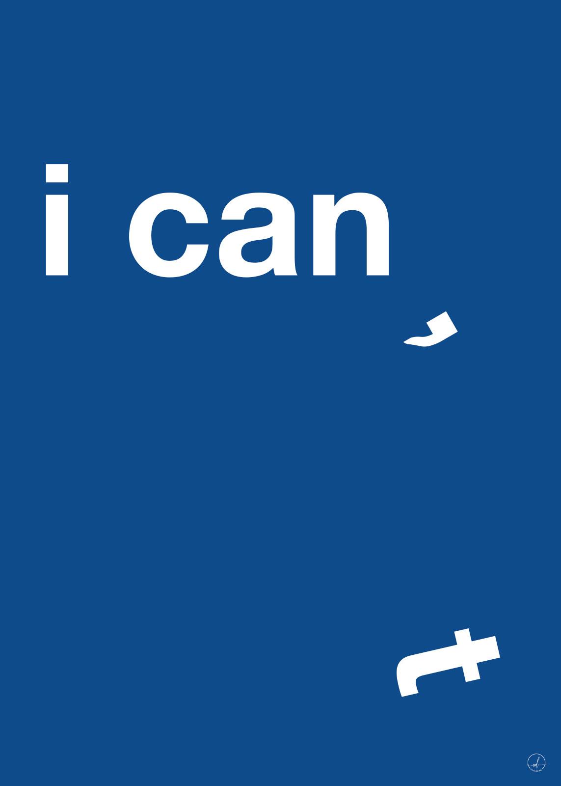Image of   I Can - Blue af Rikke Axelsen