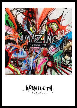 Image of   Amazing af Hornsleth, Print i glas og ramme, 50x70 cm