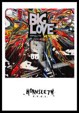 Image of   Big Love F1 af Hornsleth, Print i glas og ramme, 50x70 cm