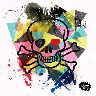 Birdy love skull af Jimmy Birdy