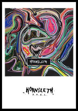 Image of   Black Abs af Hornsleth, Print i glas og ramme, 50x70 cm