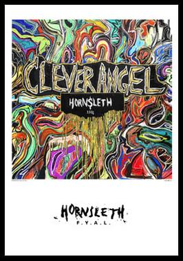 Clever Angel af Hornsleth, Print i glas og ramme, 50×70 cm