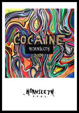 Image of   Cocaine af Hornsleth, Print i glas og ramme, 50x70 cm