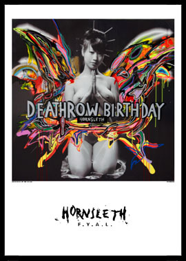 Image of   Deathrow birthday af Hornsleth, Print i glas og ramme, 50x70 cm