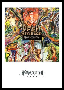 Image of   Deep storage af Hornsleth, Print i glas og ramme, 50x70 cm