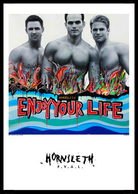 Image of   Enjoy your life af Hornsleth, Print i glas og ramme, 50x70 cm