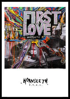 Image of   First love af Hornsleth, Print i glas og ramme, 50x70 cm