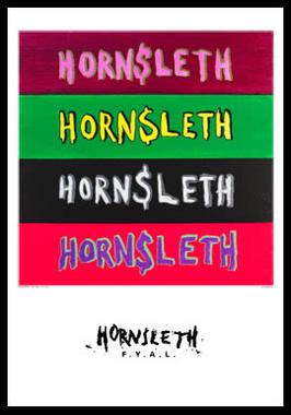 Image of   Four logos no 3 af Hornsleth, Print i glas og ramme, 50x70 cm