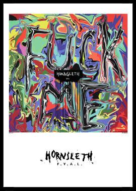 Fuck you af Hornsleth, Print i glas og ramme, 50×70 cm