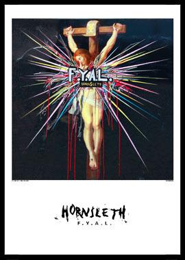 Image of   FYAL Jesus af Hornsleth, Print i glas og ramme, 50x70 cm