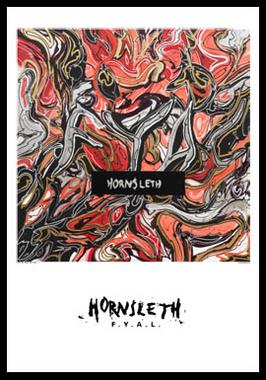 FYAL af Hornsleth, Print i glas og ramme, 50×70 cm