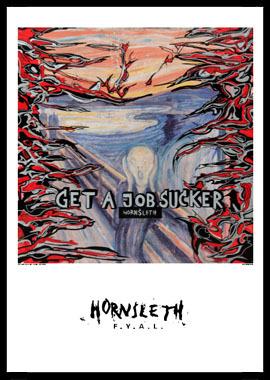 Image of   Get a job munch af Hornsleth, Print i glas og ramme, 50x70 cm