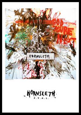 God youre next af Hornsleth, Print i glas og ramme, 50×70 cm