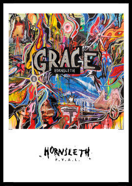 Grace af Hornsleth, Print i glas og ramme, 50×70 cm