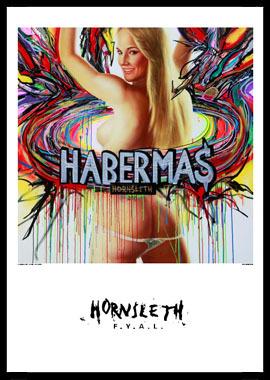 Habermas af Hornsleth, Print i glas og ramme, 50×70 cm