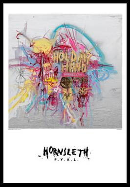 Hold my hand af Hornsleth, Print i glas og ramme, 50×70 cm
