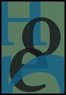 HOPE af Henrik Lund Mikkelsen, Plade med ramme, 50x70 cm
