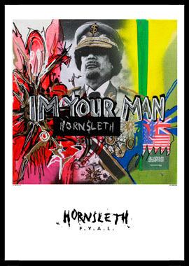 Image of   Im your man af Hornsleth, Print i glas og ramme, 50x70 cm