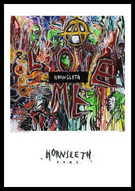 Image of   Love me af Hornsleth, Print i glas og ramme, 50x70 cm