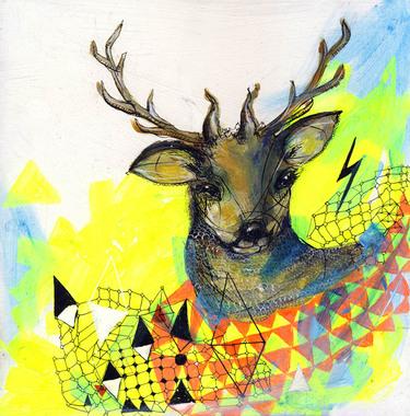 Image of   Neon deer af Charmaine Olivia