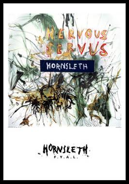 Image of   Nervous servus af Hornsleth, Print i glas og ramme, 50x70 cm