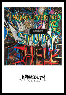 Nobody ever af Hornsleth, Print i glas og ramme, 50×70 cm