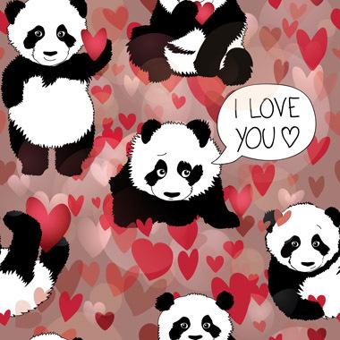 Image of   Panda loves you af Illux Kids