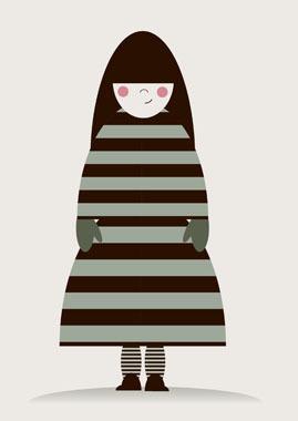 Billede af Pigen i striberI af MyRo Graphics