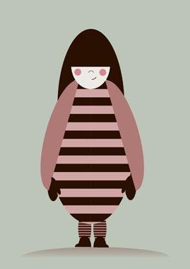 Billede af Pigen i striberII af MyRo Graphics