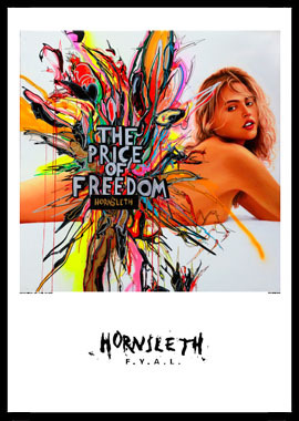 Image of   Price of freedom II af Hornsleth, Print i glas og ramme, 50x70 cm