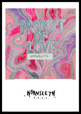 Image of   Product of love af Hornsleth, Print i glas og ramme, 50x70 cm