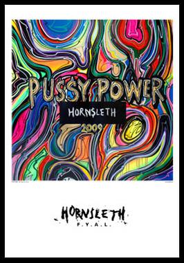 Image of   Pussy power af Hornsleth, Print i glas og ramme, 50x70 cm