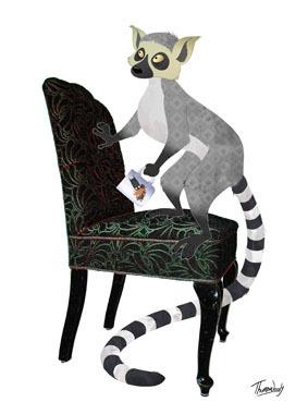 Image of   Ring tailed lemur af ThomasWoody