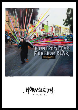 Image of   Run from fear af Hornsleth, Print i glas og ramme, 50x70 cm