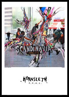 Image of   Scandinavia af Hornsleth, Print i glas og ramme, 50x70 cm