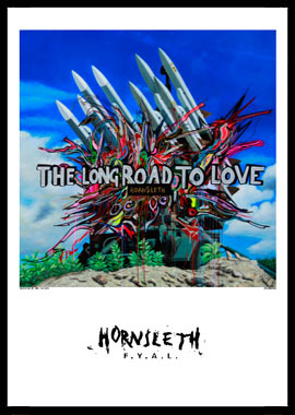 Image of   The long road af Hornsleth, Print i glas og ramme, 50x70 cm