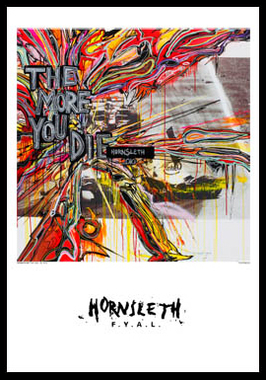 Image of   The more you die F1 af Hornsleth, Print i glas og ramme, 50x70 cm