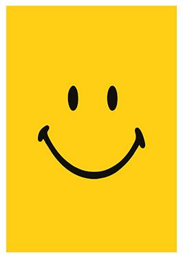 Image of Smiley af Alan Smithee, Print i glas og ramme, 50x70 cm