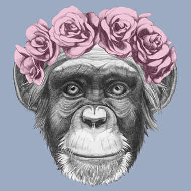 Image of   Pretty Little Monkey af Illux