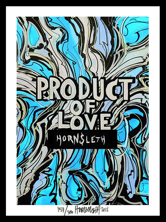 Image of   Product of love - signeret tapet af Hornsleth - signeret og nummereret